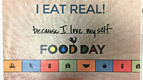 I eat real food