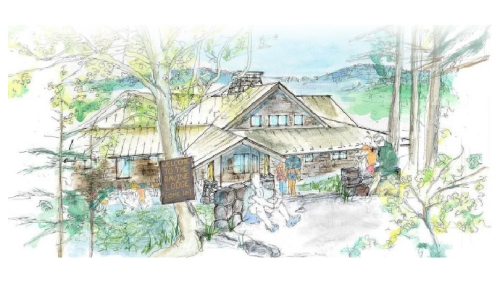Architectural sketch of the new Moosilauke Ravine Lodge.