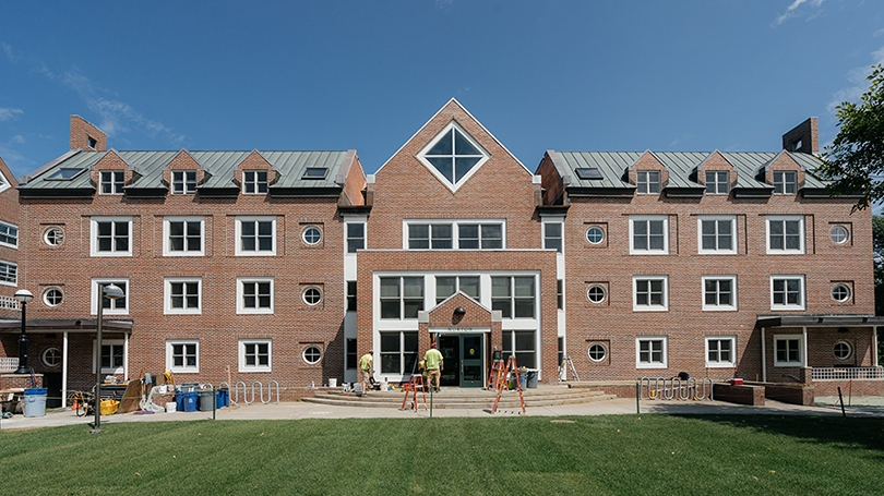 the outside of Morton Hall