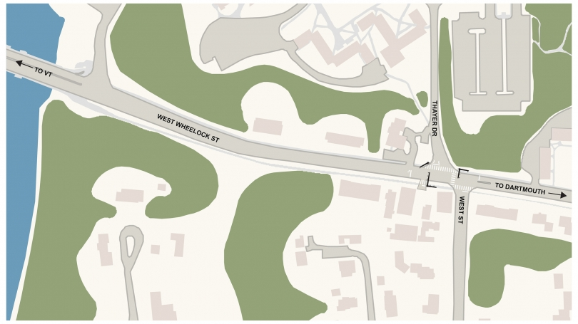 Wheelock-Thayer-West intersection map.